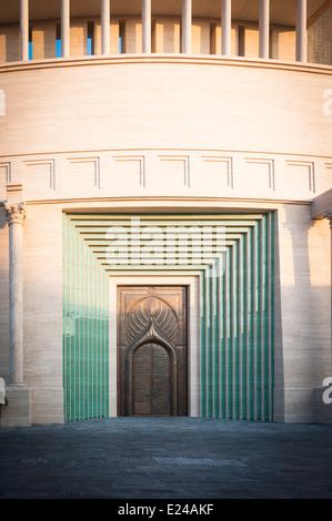 Architectural details of The Katara Amphitheater in Doha, Qatar - Stock Photo