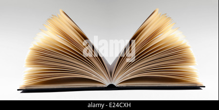 Close-up of an open book - Stock Photo