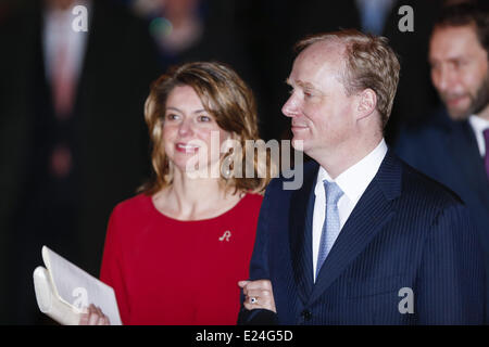 Prince Carlos Xavier Bourbon de Parma and wife Annemarie van Weezel at the celebration of the 75th anniversary of - Stock Photo