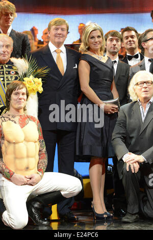 King Willem-Alexander of the Netherlands, Queen Maxima of the Netherlands visting the Kingdom concert at the Circus - Stock Photo