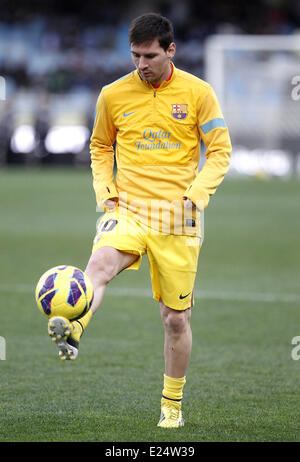 FC Barcelona vs. Real Sociedad La Liga match at the Anoeta Stadium  Featuring: Lionel Messi Where: San Sebastian, - Stock Photo