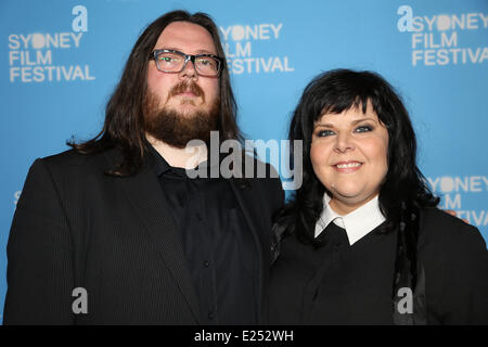 Sydney, Australia. 15th June, 2014. carpet at the State Theatre for the Australian premiere of New Zealand vampire - Stock Photo