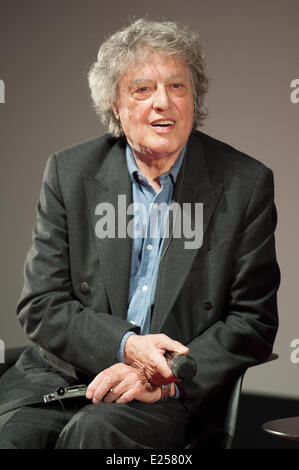Tom Stoppard give a master class at the Forum des Images in Paris, after the screening of the two first episodes - Stock Photo