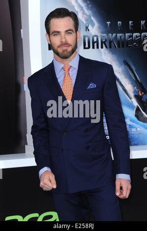 Los Angeles Premiere 'Star Trek Into Darkness' held at the Dolby Theater in Hollywood - Arrivals  Where: Hollywood, - Stock Photo