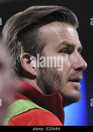 Paris Saint-Germain (PSG) vs. Olympique Lyonnais at Stade de Gerland  Featuring: David Beckham Where: Lyon, France - Stock Photo