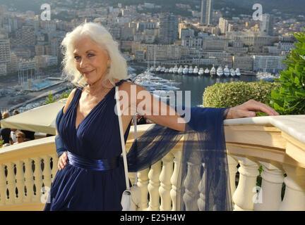 Celebrities during the 53rd Monte Carlo TV Film Festival  Featuring: Linda Thorson Where: Monte Carlo, Monaco When: - Stock Photo