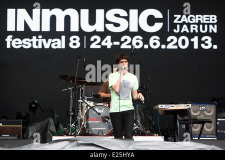 Final Day of the INmusic Festival 2013 on Youth Island in Lake Jarun.  Featuring: Moveknowledgement Where: Zagreb, - Stock Photo