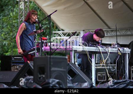 Final Day of the INmusic Festival 2013 on Youth Island in Lake Jarun.  Featuring: Ranglekloads Where: Zagreb, Croatia - Stock Photo
