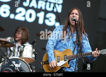 Final Day of the INmusic Festival 2013 on Youth Island in Lake Jarun.  Featuring: Breakdown Where: Zagreb, Croatia - Stock Photo