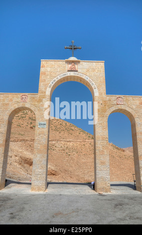 Observation point on the St. George Greek Orthodox Monastery - Stock Photo