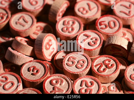 Lucky bingo numbers - Stock Photo