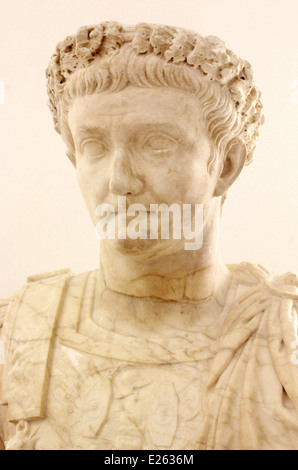 italy,naples,archeological museum,emperor domitianus - Stock Photo