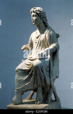 early Christian art,Jesus the teacher,the fourth century,the Roman National Museum,Rome - Stock Photo