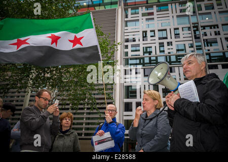 London, UK. 16th June, 2014. Syrian Refugees Welcome Here - awareness protest rally in London Credit:  Guy Corbishley/Alamy - Stock Photo