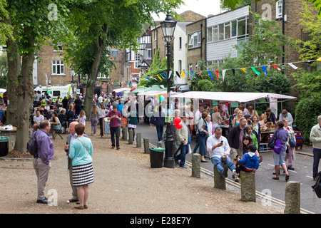 The Fair in the Square - Highgate - London - Stock Photo