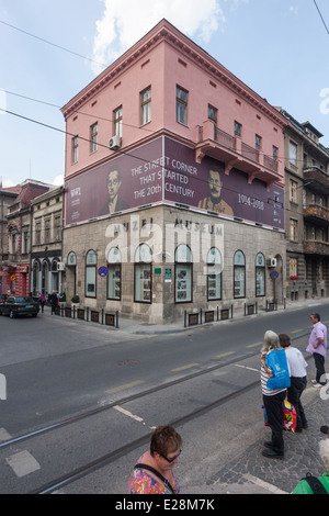 The museum is dedicated to the events of 28 June 1914 when Bosnian Serb Gavrilo Princip assassinated the Archduke - Stock Photo
