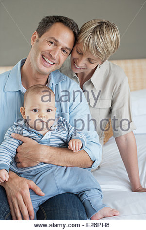 Mother, father and son - Stock Photo