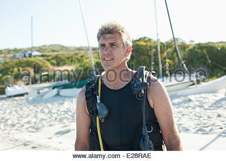 Man in scuba gear - Stock Photo