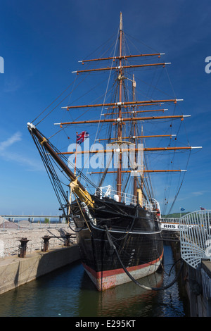 Royal Research Ship RRS Discovery in Dundee - Stock Photo