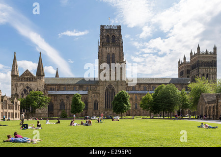 Durham Cathedral Palace Green - Stock Photo
