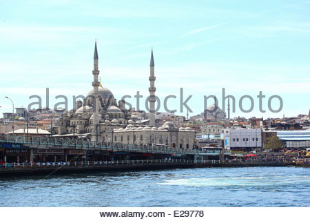 The Yeni Cami, meaning New Mosque; AKA the New Valide Sultan Mosque, in Istanbul, Turkey - Stock Photo