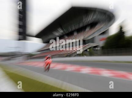 Barcelona, Spain. 17th June, 2014. BARCELONA SPAIN Jun -17. tests held in Barcelona-Catalunya circuit, on June 17, - Stock Photo