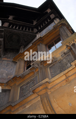 Partial view of the Maison Pfister in Colmar, France - Stock Photo