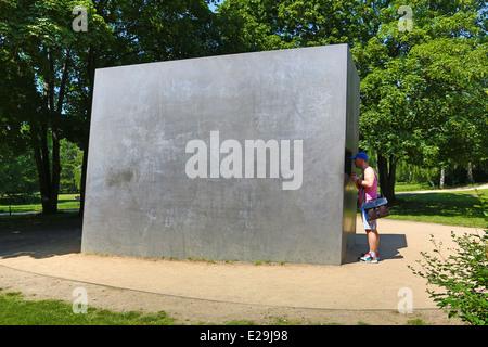 Homosexuality Memorial to Homosexuals Persecuted Under Nazism in the Tiergarten in Berlin, Germany - Stock Photo
