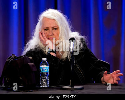 Los Angeles, California, USA. 17th June, 2014. Jefferson Airplane singer GRACE SLICK discusses her career in music - Stock Photo