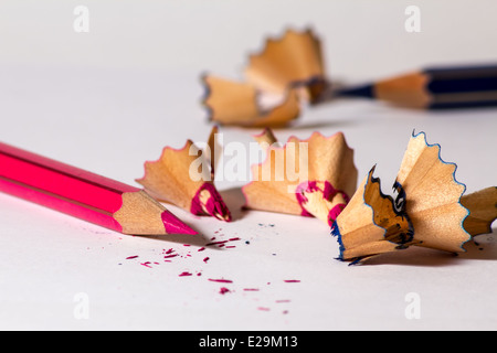 Two pencils sharpened - Stock Photo