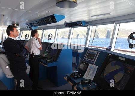 Antarctica, cruise on Boreal ship under Captain Etienne Garcia autority - Stock Photo