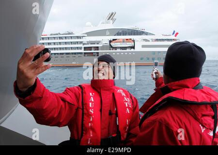 Antarctica, cruise on Boreal ship, the Antarctic Peninsula, administered under the Antarctic Treaty Systems, Neko - Stock Photo