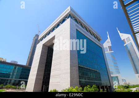 United Arab Emirates, Dubai emirate, Dubai's World Trade Center business district, The Gate Building by Gensler - Stock Photo