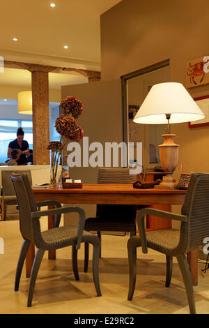 France, Cotes d'Armor, Perros Guirec, the hotel les Costans, reception - Stock Photo
