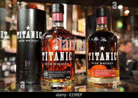 United Kingdom, Northern Ireland, Belfast, the Titanic Whiskey launched in 2011 - Stock Photo