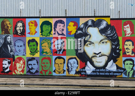 Northern Ireland, Belfast, murals Stock Photo: 39352668 ...