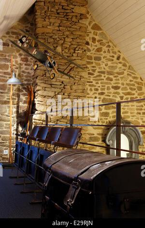 France, Morbihan, Baden, Le Val de Brangon, guest house top of the range, landing - Stock Photo