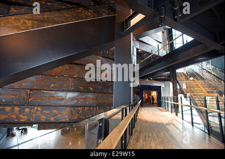 United Kingdom, Northern Ireland, Belfast, the Titanic Belfast museum - Stock Photo