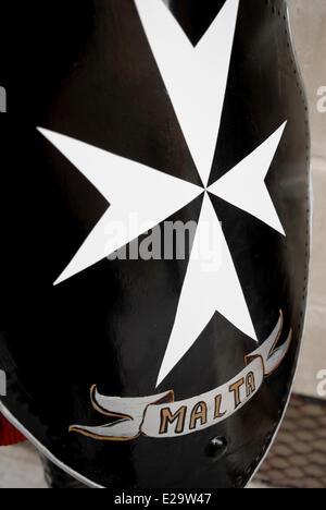 Malta Order Hospitaller Knights White Cross Symbol Stock Photo