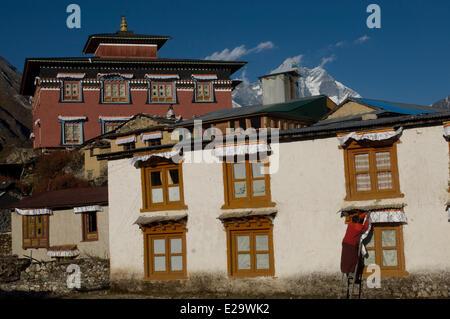 Nepal, Sagarmatha Zone, Khumbu Region, trek of the Everest Base Camp, Tengboche monastery - Stock Photo
