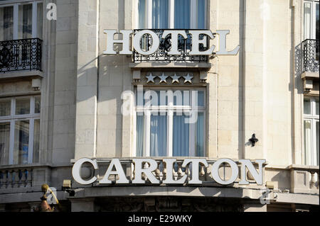 France, Nord, Lille, Hotel Carlton - Stock Photo