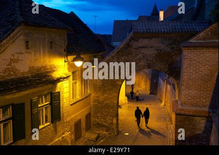 Romania, Transylvania, Carpathian Mountains, Sibiu, the old town - Stock Photo