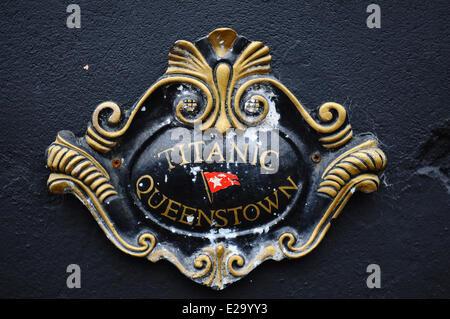 Ireland, Cork County, port city of Cobh, Titanic Museum - Stock Photo