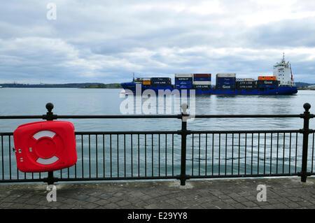 Ireland, Cork County, port city of Cobh - Stock Photo