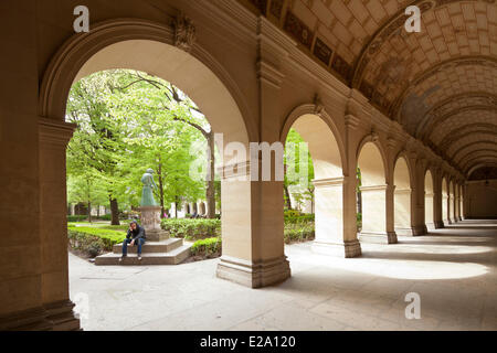 France, Rhone, Lyon, historical site listed as World Heritage by UNESCO, Palais Saint Pierre, Musee des Beaux Arts - Stock Photo