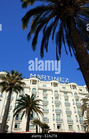France, Alpes Maritimes, Cannes, Hotel Martinez - Stock Photo