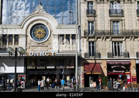 France, Cote d'Or, Dijon, Place Darcy, Darcy cinema - Stock Photo