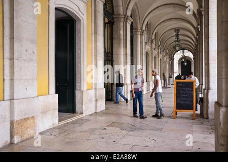Portugal, Lisbon, Baixa district, the Praca do Comercio - Stock Photo