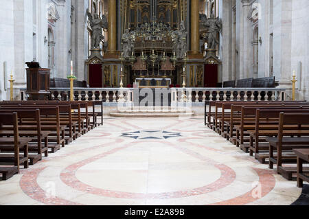 Portugal, Lisbon, the church of the monastery Sao Vicente de Fora - Stock Photo