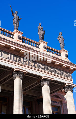 Mexico, Guanajuato state, Guanajuato, listed as World Heritage by UNESCO, the theatre Juarez downtown - Stock Photo